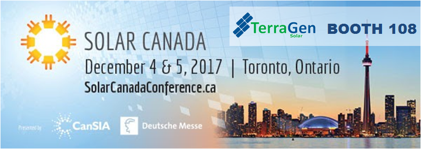 TerraGen is exhibiting at Solar Canada