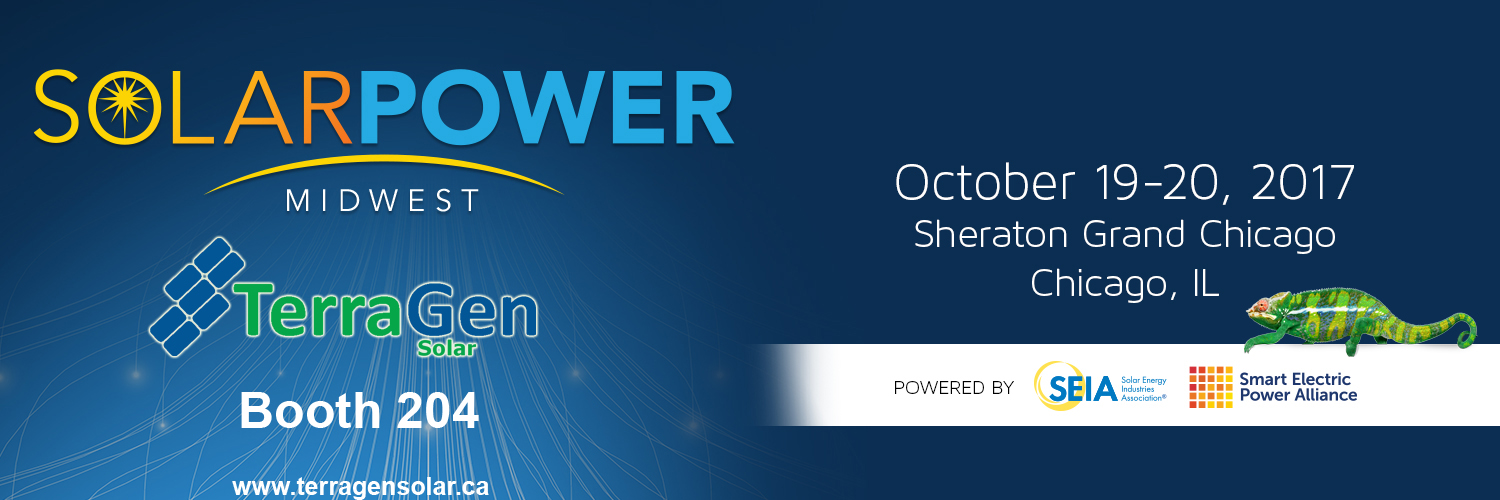 TerraGen is exhibiting at Solar Power Midwest!