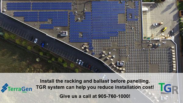 TerraGen's TGR flat roof racking system