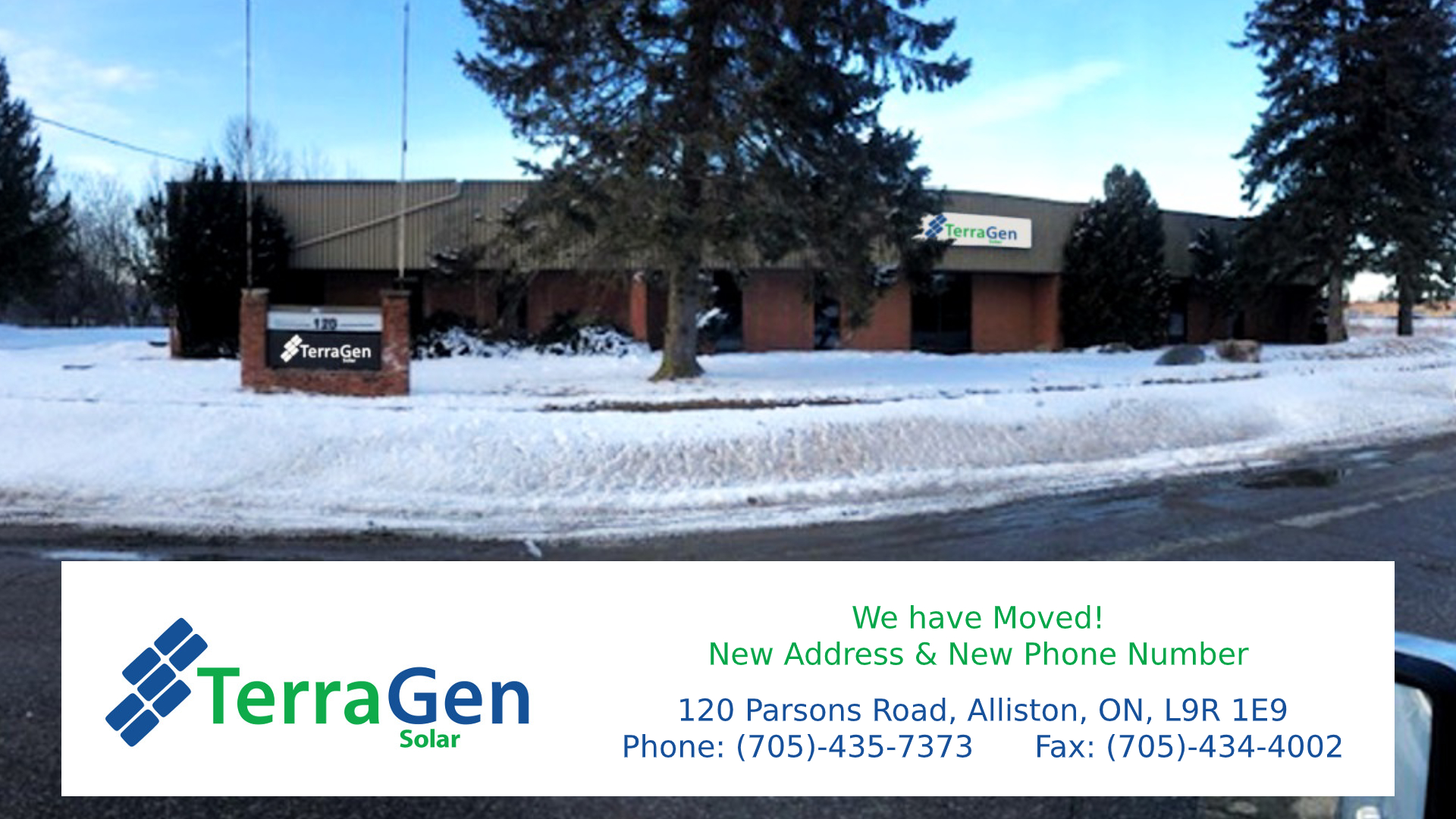 TerraGen Has Relocated Our Office And Warehouse